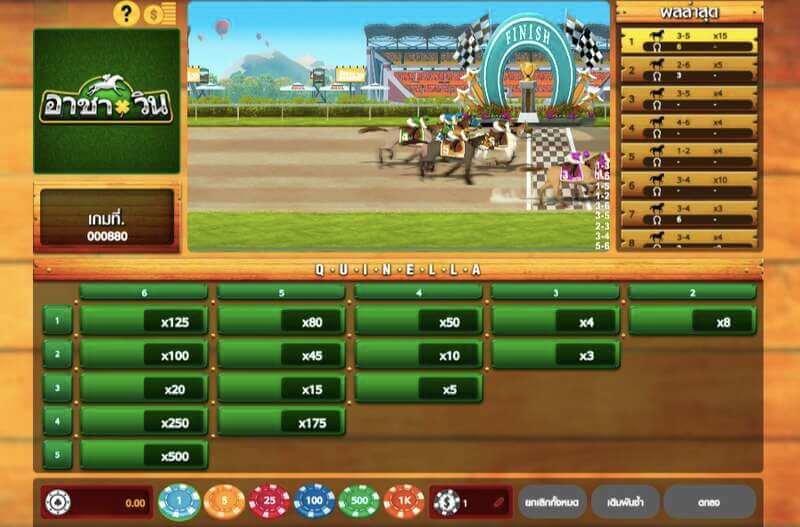 เกมเดิมพันรูปแบบที่สอง โปรแกรมม้าแข่งอุดร แบบ Arcade